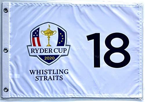 2020 Ryder Cup golf flag whistling straits silkscreen logo pin flag new