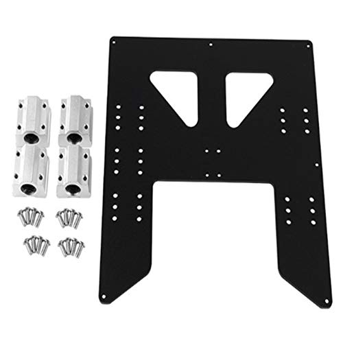 Lopbinte 3D Printer Upgrade Y Carriage Anodized Aluminum Plate for A8 Hotbed Support for Prusa I3 Anet A8 3D Printers Black