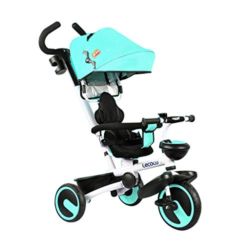 FGX 3-wieler voor kinderen, titanium hechting, 4-in-1, draaibare kinderwagen, opvouwbare kinderwagen, voor kleine kinderen