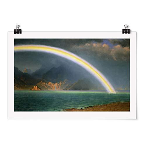 Bilderwelten Poster - A. Bierstadt Rainbow Over Jenny Lake Fini satiné Autocollant 40 x 60cm