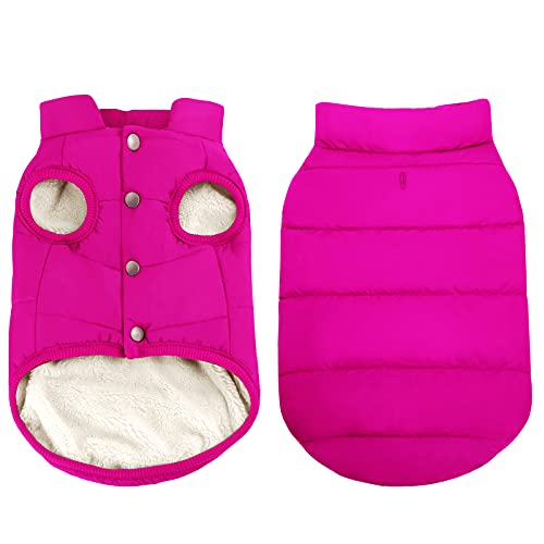 ASENKU Windproof Dog Winter Coat Waterproof Dog Jacket Warm Dog Vest Cold Weather Pet Apparel with 2...