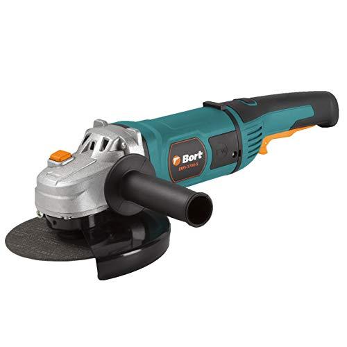 Bort Winkelschleifer BWS-1700-S, Ø 180 mm, 1700 Watt, 8000 UpM mit Soft-Start Funktion inkl. Zusätzlicher Kohlebürstensatz