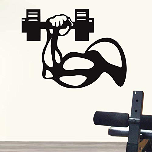 Gym Sticker Fitness Arm halter training om spier Decal Fitness Poster Vinyl muur Sticker muur Decor Gym Sticker te vinden 60x79cm