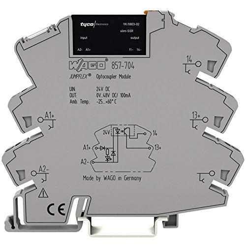 Preisvergleich Produktbild WAGO Halbleiterrelais 857-707 Last-Strom (max.): 100mA Schaltspannung (max.): 48 V / DC 1St.