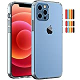 Saputu Clear Case Compatible with iphone12 Pro Max, TPU Edging PC Hard Back Full Body Thickening 2.0 Anti-Drop Anti-Scratch Shock Absorption Multi-Color Buttons Protective Cover (6.7-Inch)