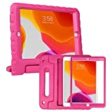 HDE iPad 9th Generation Case for Kids with Built-in Screen Protector Shockproof iPad Cover 10.2 inch with Handle Stand fits 2021 9th Gen, 2020 8th Gen, 2019 7th Gen Apple iPad 10.2 - Hot Pink