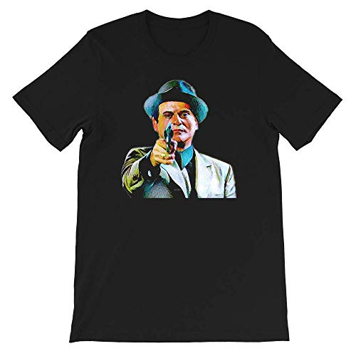 Joe Pesci Mafia Gangster Movie Goodfellas Painting T Shirt Gift Tee Graphic for Womens Man Black