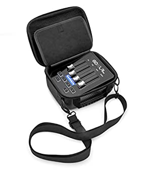 Casematix Studio Case Compatible with Tc Helicon GoXLR Mini Aokeo 4 Channel Mixer Audio Interface and More with Small Cables Includes Carry Bag Only with Strap