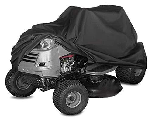 Cubierta para cortacésped, poliéster 210D para Trabajo Pesado Cubierta para Tractor césped Durable Impermeable, Anti-UV, Resistente a la Intemperie con cordón y Bolsa Almacenamiento (Color : S)