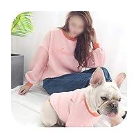 暖かい犬服冬のペット服犬のコートジャケットソフト子犬犬コスチュームブルドッグチワワペット猫服-ピンク-XLペット専用