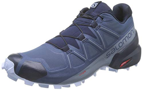 Salomon Women's Speedcross 5 Wide W Trail Running, Sargasso Sea/Navy Blazer/Heather, 10.5