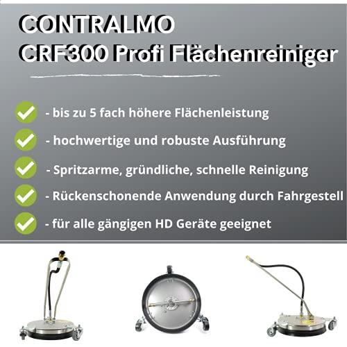 Contralmo CFR300 Profi Edelstahl Flächenreiniger | Pressure Washer | 150 Bar | mobiler Reinigung | Terassenreiniger | Steinreiniger | Betonreiniger | Universal-Reiniger | DIE Putzmaschine - 6