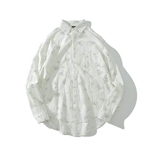Camisas para Hombre Verano Diseño Simple y Ligero de Moda Camisas de Manga Larga Camisas de Punto Casual...