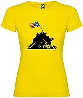 Camiseta Catalunya Iwo Jima Independent Manga Corta Mujer