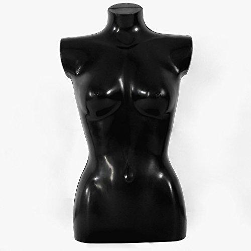 Schaufensterpuppe DPS Shopfitting Damen-Torso aus Kunststoff, schwarz