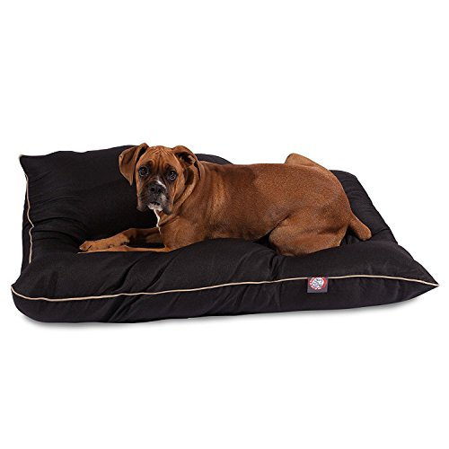 35x46 Black Super Value Pet Dog Bed By Majestic Pet Products Large