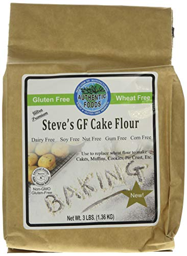 Authentic Foods Steve's Gluten Free Cake Flour Blend, 3 Pound