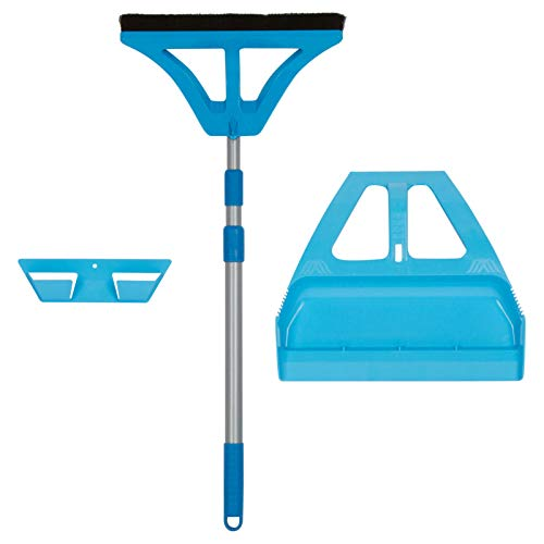 WISPsystem Best 90 Degree Angle One-Handed Broom with Dustpan - Blue-Floor Care Products-Broom mop Dustpan-Casabella Dustpan-Casabella Dustpan and Brush-Restaurant Broom and Dustpan