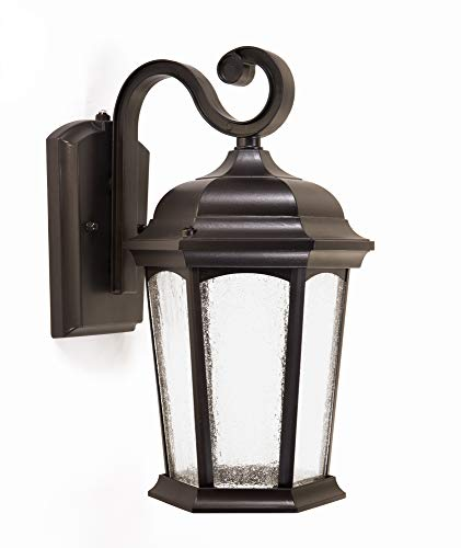 CORAMDEO Outdoor LED Dusk to Dawn Lantern, Wet Location, Built in LED...