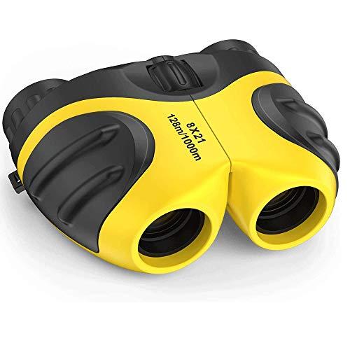 XWX Binocular para Niños, Binoculares Compactos A Prueba De Golpes De Alta Resolución. (Color : Green)