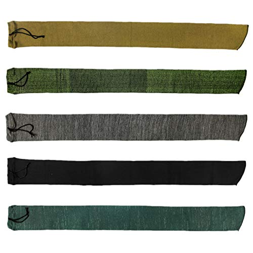 GUGULUZA Silicone Treated Knit Gun Socks for Rifles Shotgun,Mixed Color, 5 Pack (54 x 4 inch - 5 Pack)