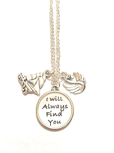 Collar de metal níquel Free I Will Always Find You te encontraré siempre Emma Swan Hook gancho Killian Jones Once Upon A Time Ouat Cigno Nave Jolly Rogers existe una vez Serie TV Love Amore Cosplay