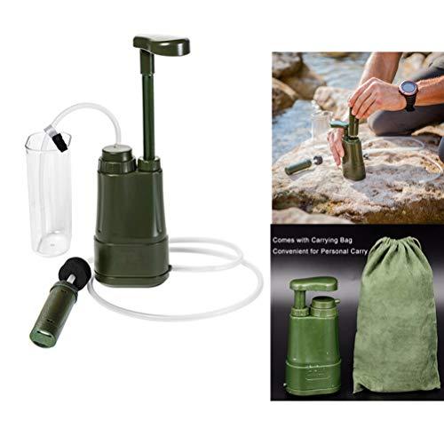 SJWR Tragbarer Wasserfilter, persönlicher Wasserfilter für Campingzwecke für Notfälle, mit interner Carbon- und Ultrafilter-Einheit, 0,01 Mikron Absolute Hohlfasermembran, Survival-Kit