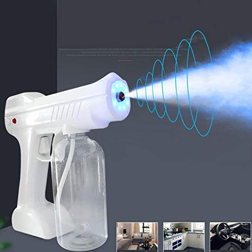MZYKA 800ml Cordless Low Temperature Desinfektion Vernebler ULV elektrische Sprayer Nano Vapor-Spritzpistole Bügelmaschine Luftreiniger, Weiss