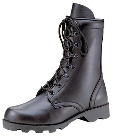 Rothco 10'' Leather Speedlace Combat Boot, Black, 12