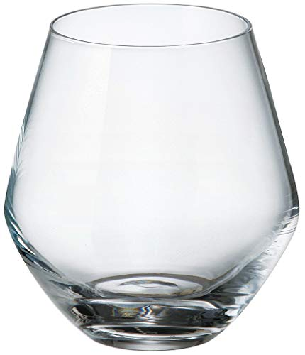 Bohemia Royal Crystal - Vaso de Cristal de 500 ml./17 fl OZ. Collection Grus-Michelle. (Set de 6 piezas) (500 ml)