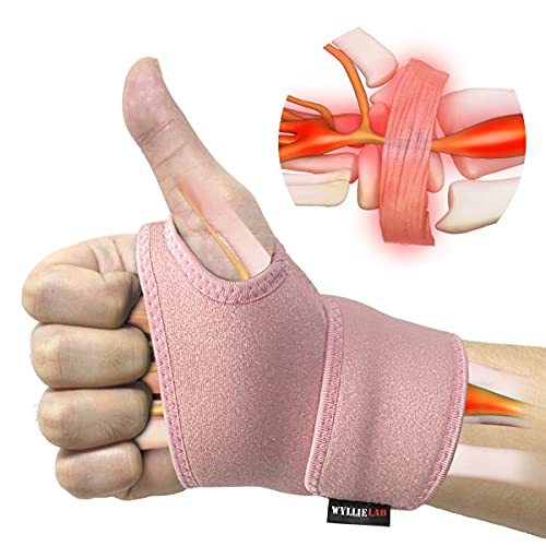Wrist Brace for Carpal Tunnel, Comfortable and Adjustable Wrist Support Brace for Arthritis and Tendinitis, Wrist Compression Wrap for Pain Relief, Fit for Both Left Hand and Right Hand – Single