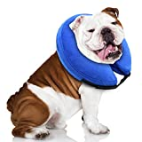 E-KOMG Protective Inflatable Collar for Dogs,Pet Recovery Collar,Cone for Cat After Surgery,Does Not Block Vision E-Collar (XL)