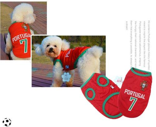 [Portugal] Lovely Dog Apparel Pet Vêtements pour animal domestique de football Vêtements, taille XXXXL