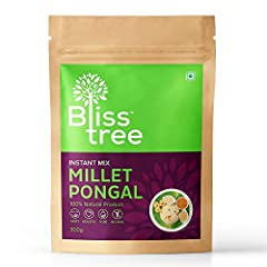 No Preservatives. No Additives. Use Bliss Tree Millet Pongal Mix made from a fine blend of millet grains added with natural ingredients to make Pongal delicious and awesome in taste. Total preparation time: 10-15 mins 10 x 300g Millet Rava Dosa packs...