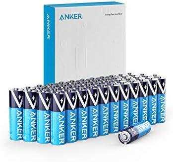 48-Pack Anker Alkaline AA Batteries with PowerLock Technology