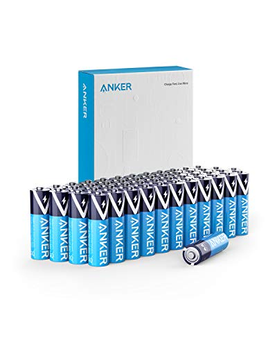 Anker Alkaline AA Batteries (48-Pack), Long-Lasting & Leak-Proof with PowerLock Technology, High Capacity Double A Batteries with Adaptive Power and Superior Safety (Non-Rechargeable)