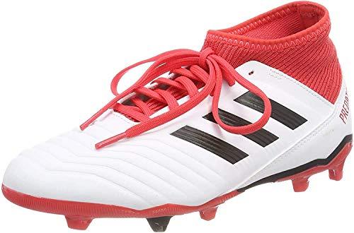 adidas Unisex-Kinder Predator 18.3 FG JR CP9011 Fußballschuhe, Mehrfarbig (Ftwr White/Core Black/Real Coral S18), 36 EU