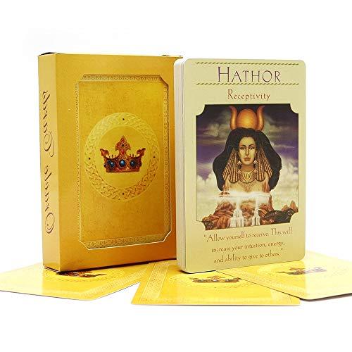 OEFHEIOWJO Englisches Schönheit Oracle-Karten Deck 44 Karten, Tarot-Karten Guidance mit E-Book for Family Fun-Brettspiel
