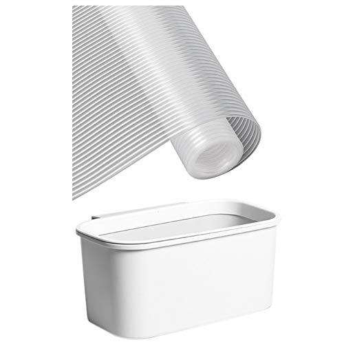 Cuasting 1 almohadilla para gabinete y 1 bote de basura de plástico para puerta de armario de cocina