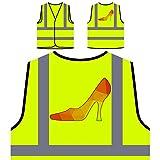 Origami Triangle Zapato de tacón alto Chaqueta de seguridad amarillo personalizado de alta visibilidad u569v