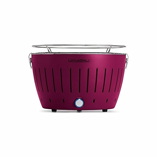 Lotus Grill Outdoor Portable Smokeless Battery Operated Grill (Purple)