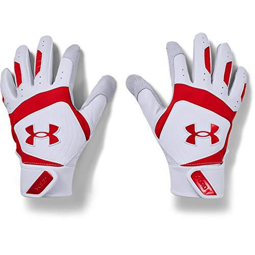 Under Armour Men's Yard 20 Baseball Gloves , White (102)/Red , Large