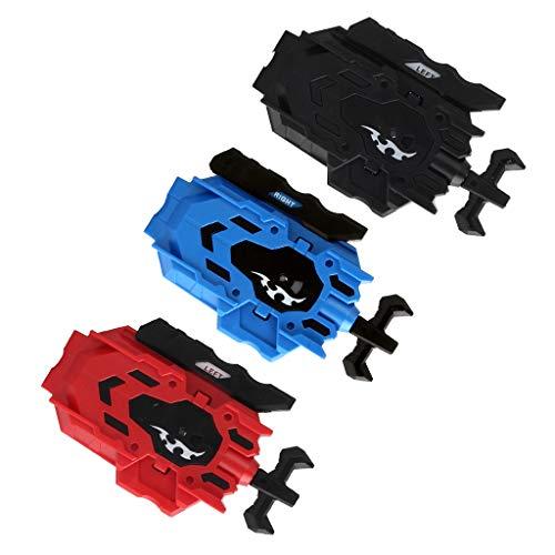 B Blesiya 3pcs Lanzador de Cuerda de Doble Dirección Plástico para Peonza de High Performance