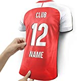 Elbeffekt Wooden jersey lamp for Arsenal fans - personalisable gift - give your individual Arsenal fan article made of real wood