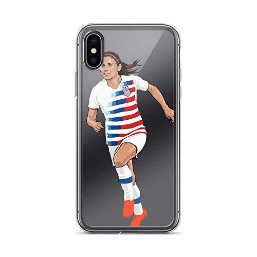Roadiress Alex Morgan American Soccer Player 13 Compatible con iPhone 12/12Pro MAX 12 Mini 11 Pro MAX XR XS/XsMax SE 2020 7 8 6/6s Plus Samsung Series Funda Protectora