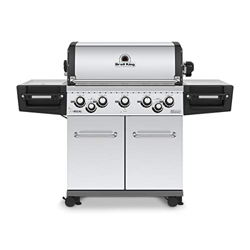 Broil King 958347 Regal S590 Pro Gas Grill, 5-Burner, Stainless Steel