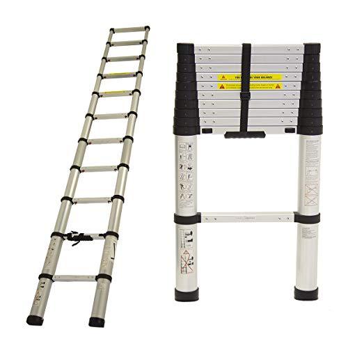 3.2M Bentley Telescopic Extendable Extension Ladder EN131-6 Safety Certificate