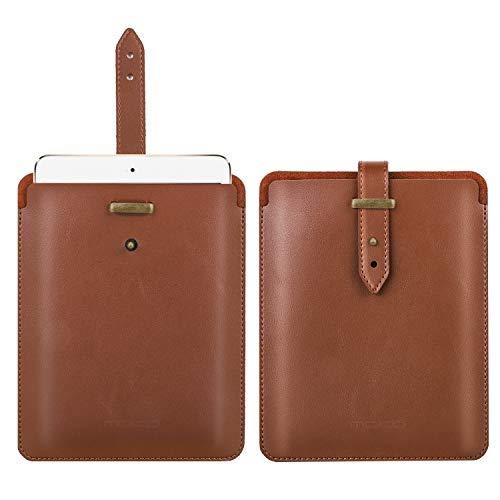 MoKo 7.9 Inch Tasche Kompatibel mit iPad Mini4/3 / 2/1, Tragbar PU Leder Hülle Stoßfest Schutzhülle mit Druckknopf für New iPad Mini 5 2019 (5th Generation 7.9 inch) - Braun