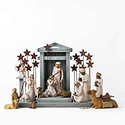 top rated Willow Christmas Tree Deluxe Plus Metal Background Stars  Angels, 18-piece set 2021