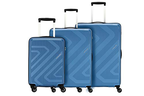Kamiliant by American Tourister Kiza Combo set of 3 Ash Blue Small, Medium and Large 4-wheel Check-in Suitcase